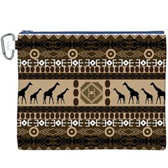 African Vector Patterns  Canvas Cosmetic Bag (xxxl)
