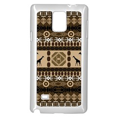 African Vector Patterns  Samsung Galaxy Note 4 Case (White)