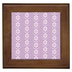 Flower Star Purple Framed Tiles