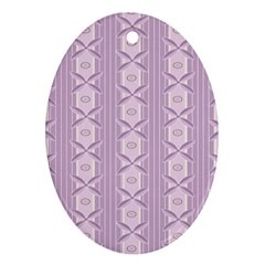 Flower Star Purple Ornament (oval)