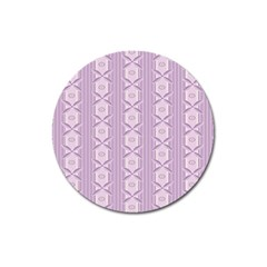Flower Star Purple Magnet 3  (Round)