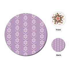 Flower Star Purple Playing Cards (Round)