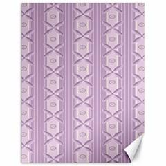 Flower Star Purple Canvas 18  x 24