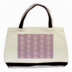 Flower Star Purple Basic Tote Bag (Two Sides)
