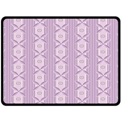 Flower Star Purple Fleece Blanket (Large)