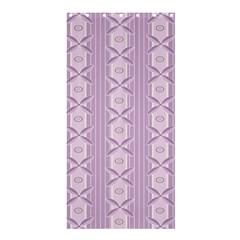 Flower Star Purple Shower Curtain 36  x 72  (Stall)