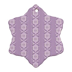 Flower Star Purple Snowflake Ornament (Two Sides)