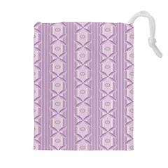 Flower Star Purple Drawstring Pouches (extra Large)
