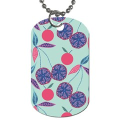 Passion Fruit Pink Purple Cerry Blue Leaf Dog Tag (two Sides)