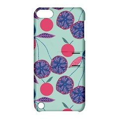 Passion Fruit Pink Purple Cerry Blue Leaf Apple iPod Touch 5 Hardshell Case with Stand