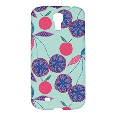 Passion Fruit Pink Purple Cerry Blue Leaf Samsung Galaxy S4 I9500/i9505 Hardshell Case