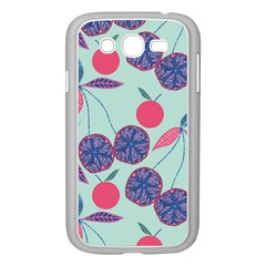 Passion Fruit Pink Purple Cerry Blue Leaf Samsung Galaxy Grand DUOS I9082 Case (White)