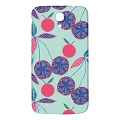 Passion Fruit Pink Purple Cerry Blue Leaf Samsung Galaxy Mega I9200 Hardshell Back Case