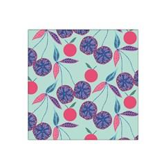 Passion Fruit Pink Purple Cerry Blue Leaf Satin Bandana Scarf
