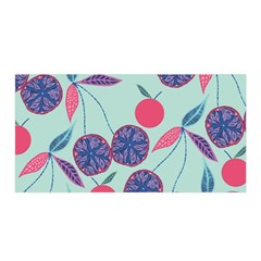 Passion Fruit Pink Purple Cerry Blue Leaf Satin Wrap