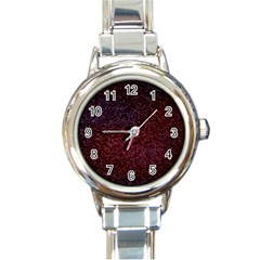 3d Tiny Dots Pattern Texture Round Italian Charm Watch