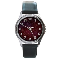 3d Tiny Dots Pattern Texture Round Metal Watch