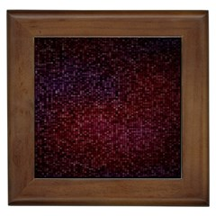 3d Tiny Dots Pattern Texture Framed Tiles