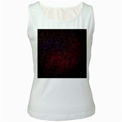 3d Tiny Dots Pattern Texture Women s White Tank Top