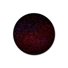 3d Tiny Dots Pattern Texture Rubber Coaster (Round)