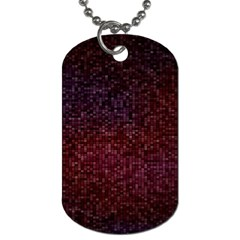 3d Tiny Dots Pattern Texture Dog Tag (one Side)