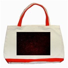 3d Tiny Dots Pattern Texture Classic Tote Bag (red)
