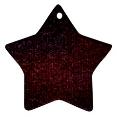 3d Tiny Dots Pattern Texture Star Ornament (two Sides)