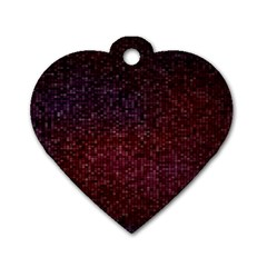 3d Tiny Dots Pattern Texture Dog Tag Heart (two Sides)