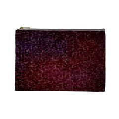 3d Tiny Dots Pattern Texture Cosmetic Bag (large)