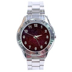 3d Tiny Dots Pattern Texture Stainless Steel Analogue Watch