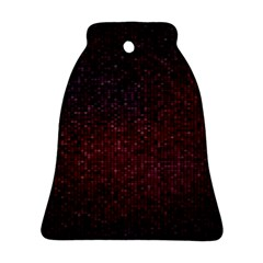 3d Tiny Dots Pattern Texture Bell Ornament (Two Sides)