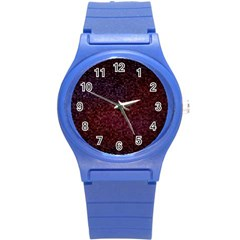 3d Tiny Dots Pattern Texture Round Plastic Sport Watch (s)