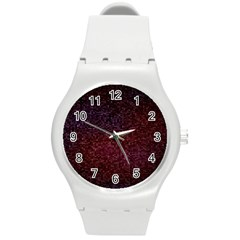 3d Tiny Dots Pattern Texture Round Plastic Sport Watch (m)