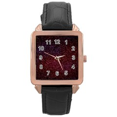3d Tiny Dots Pattern Texture Rose Gold Leather Watch