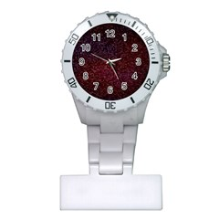 3d Tiny Dots Pattern Texture Plastic Nurses Watch