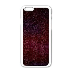 3d Tiny Dots Pattern Texture Apple Iphone 6/6s White Enamel Case