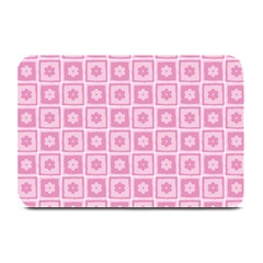 Plaid Floral Flower Pink Plate Mats