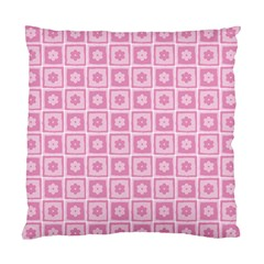 Plaid Floral Flower Pink Standard Cushion Case (One Side)