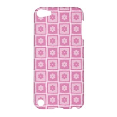 Plaid Floral Flower Pink Apple Ipod Touch 5 Hardshell Case