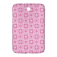 Plaid Floral Flower Pink Samsung Galaxy Note 8.0 N5100 Hardshell Case