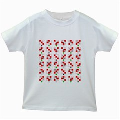 Permutations Dice Plaid Red Green Kids White T Shirts