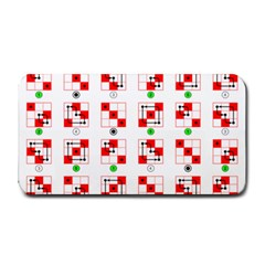 Permutations Dice Plaid Red Green Medium Bar Mats