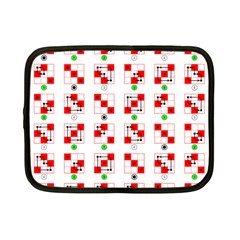 Permutations Dice Plaid Red Green Netbook Case (Small)