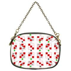 Permutations Dice Plaid Red Green Chain Purses (Two Sides)