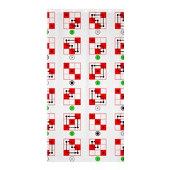 Permutations Dice Plaid Red Green Shower Curtain 36  x 72  (Stall)