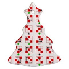 Permutations Dice Plaid Red Green Christmas Tree Ornament (Two Sides)