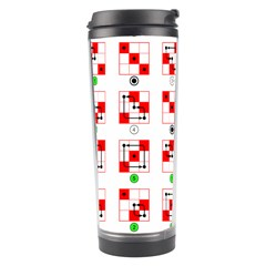 Permutations Dice Plaid Red Green Travel Tumbler
