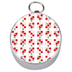 Permutations Dice Plaid Red Green Silver Compasses