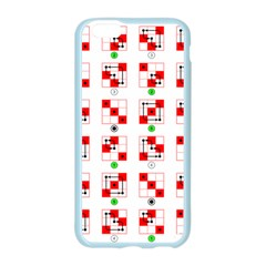 Permutations Dice Plaid Red Green Apple Seamless iPhone 6/6S Case (Color)