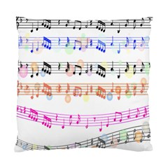Notes Tone Music Rainbow Color Black Orange Pink Grey Standard Cushion Case (Two Sides)